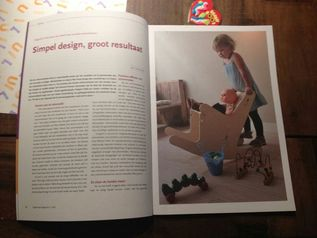 Nice article about the rocking chair at Ergotherapie Nederland. Simple design, great impact. Rocking chair for care, at home or just because it is a nice chair.