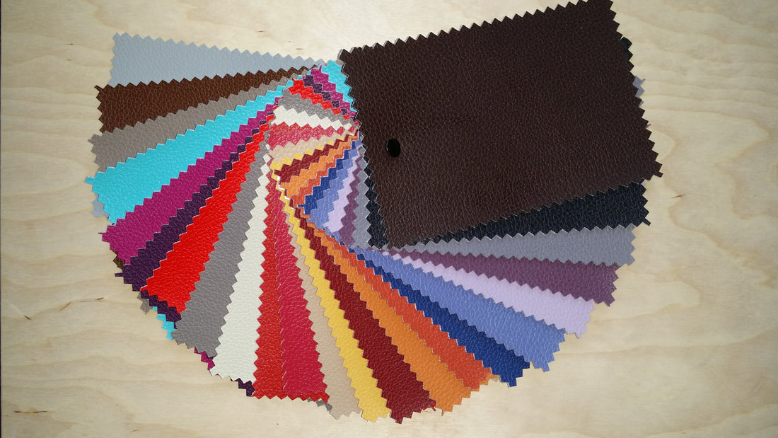 Colour range available for customization of your Schommeli wooden rocking chair seat cushion and cushion for back rest.