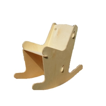 Stoeli Schommeli wooden rocking chair for teenagers or in schools. The rocking motion helps produce endorfines creating a natural happy place. Schommeli model S.6.R