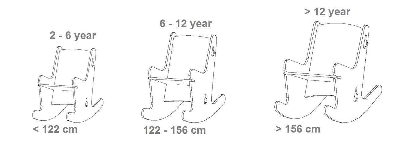 The models of the nice rocking chair shich is suitable for young and old.